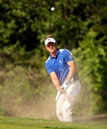 NEWPORT, WALES - JUNE 03:  Luke Donald of England in action during the first round of the Celtic Manor Wales Open on The Twenty Ten Course at The Celtic Manor Resort on June 3, 2010 in Newport, Wales.  (Photo by Andrew Redington/Getty Images)