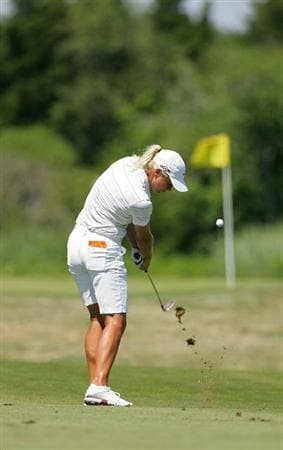 GALLOWAY, NJ - JUNE 18: Suzann Pettersen of Norway plays a shot from the fairway during the first round of the ShopRite LPGA Classic held at Dolce Seaview Resort (Bay Course) on June 18, 2010 in Galloway, New Jersey.  (Photo by Michael Cohen/Getty Images)