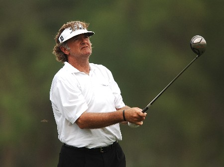 Tommy Armour III hits from the 12th tee during the first round of the 2005 Shell Houston Open at the Redstone Golf Club in Houston, Texas April 21, 2005.Photo by Steve Grayson/WireImage.com