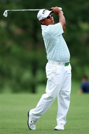AUGUSTA, GA - APRIL 10:  Prayad Marksaeng of Thailand watches a shot during the second round of the 2009 Masters Tournament at Augusta National Golf Club on April 10, 2009 in Augusta, Georgia.  (Photo by Andrew Redington/Getty Images)