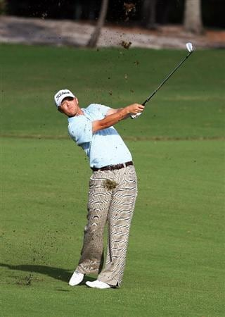 WEST PALM BEACH, FL - DECEMBER 07:  Matt Jones of Australia hits out of the 17th fairway during the final round of the 2009 PGA TOUR Qualifying Tournament at Bear Lakes Country Club on December 7, 2009 in West Palm Beach, Florida.  (Photo by Doug Benc/Getty Images)