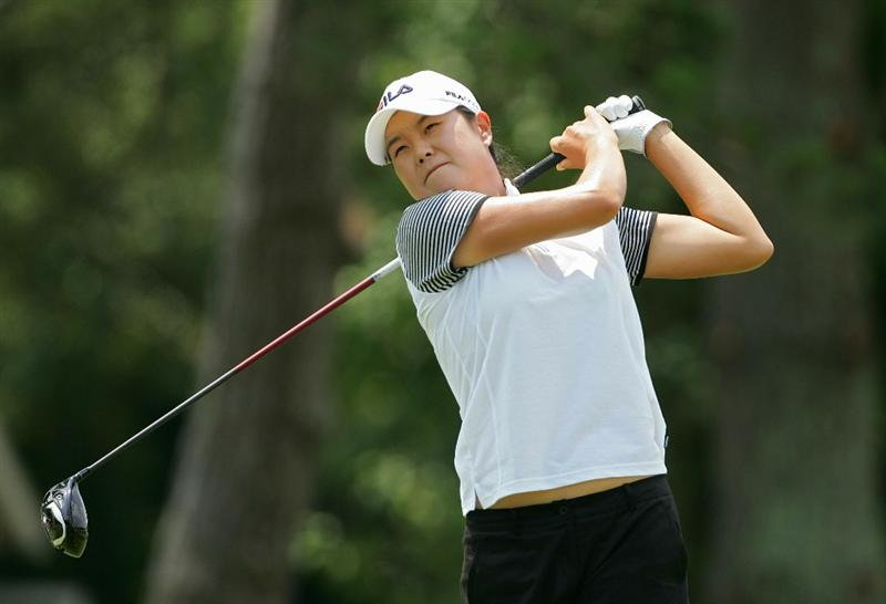 GALLOWAY, NJ - JUNE 20: Hee-Won Han of South Korea hits her drive on the second hole during the final round of the ShopRite LPGA Classic held at Dolce Seaview Resort (Bay Course) on June 20, 2010 in Galloway, New Jersey.  (Photo by Michael Cohen/Getty Images)