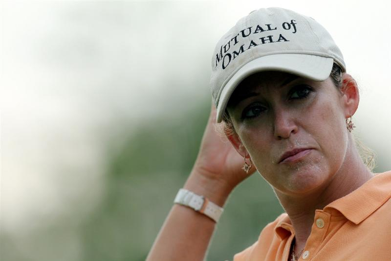 KUALA LUMPUR, MALAYSIA - OCTOBER 21:   Cristie Kerr of USA in deep thoughts on the 4th hole during the Sime Darby Pro-Am at the KLGCC Golf Course on October 21, 2010 in Kuala Lumpur, Malaysia (Photo by Stanley Chou/Getty Images)