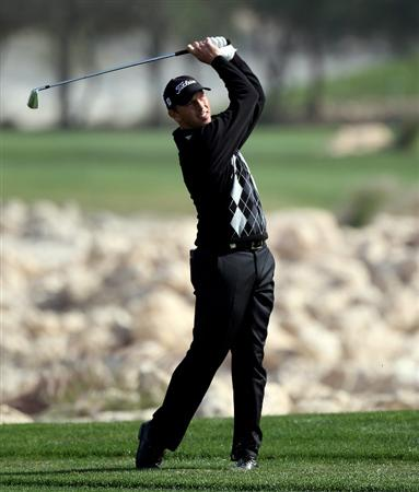 DOHA, QATAR - JANUARY 28:  Soren Hansen of Denmark on the 11th tee during the first round of The Commercialbank Qatar Masters at The Doha Golf Club on January 28, 2010 in Doha, Qatar.  (Photo by Ross Kinnaird/Getty Images)