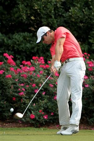 PONTE VEDRA BEACH, FL - MAY 11:  Paul Casey of England hits a tee shot during a practice round prior to the start of THE PLAYERS Championship held at THE PLAYERS Stadium course at TPC Sawgrass on May 11, 2011 in Ponte Vedra Beach, Florida.  (Photo by Scott Halleran/Getty Images)
