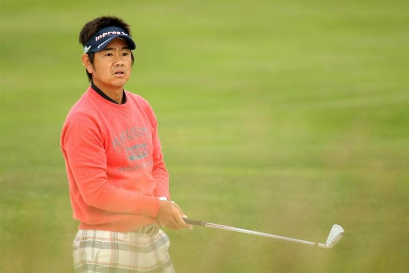 PEBBLE BEACH, CA - JUNE 17:  Hiroyuki Fujita of Japan watches a shot on the second hole during the first round of the 110th U.S. Open at Pebble Beach Golf Links on June 17, 2010 in Pebble Beach, California.  (Photo by Ross Kinnaird/Getty Images)