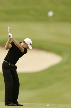 Adam Groom during the second round of the 2005 Aa St Omer Open at the Aa St Omer Golf Club. June 17, 2005.Photo by Pete Fontaine/WireImage.com