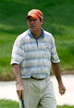 SILVIS, IL - JULY 10:  Rich Beem walks off the first green after a par putt during the first round of the 2008 John Deere Classic at TPC at Deere Run on Thursday, July 10, 2008 in Silvis, Illinois.  (Photo by Kevin C. Cox/Getty Images)
