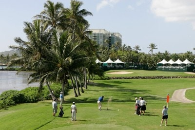 A course scenic of the 17th hole during practice round at the Sony Open in Hawaii held at Waialae Country Club on January 9, 2008 in Honolulu, Hawaii. PGA TOUR - 2008 Sony Open in Hawaii - Pro-AmPhoto by Stan Badz/PGA TOUR/WireImage.com