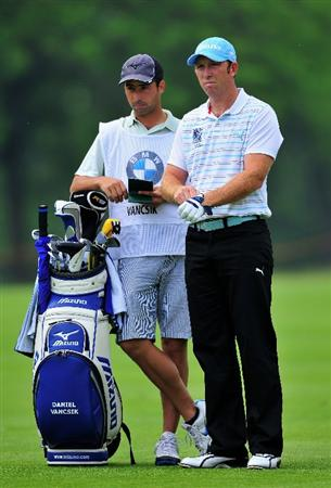 TURIN, ITALY - MAY 09:  Daniel Vancsik of Argentina and caddie on the 11th hole during the third round of the BMW Italian Open at Royal Park I Roveri on May 9, 2009 near Turin, Italy.  (Photo by Stuart Franklin/Getty Images)