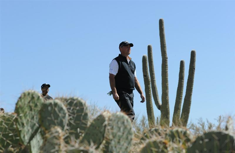 MARANA, AZ - FEBRUARY 23:  Thomas Bjorn of Denmark walks on the second hole during the first round of the World Golf Championships-Accenture Match Play Championship held at The Ritz-Carlton Golf Club, Dove Mountain on February 23, 2011 in Marana, Arizona.  (Photo by Stuart Franklin/Getty Images)