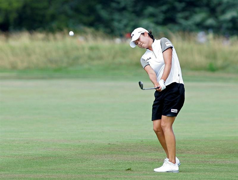 GALLOWAY, NJ - JUNE 20: Hee-Won Han of South Korea hits her third shot on the ninth hole during the final round of the ShopRite LPGA Classic held at Dolce Seaview Resort (Bay Course) on June 20, 2010 in Galloway, New Jersey.  (Photo by Michael Cohen/Getty Images)