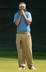 Jeff Overton waits to putt on the 17th green during the third round of the Wyndham Championship at Forest Oaks Country Club on August 18, 2007 in Greensboro, North Carolina. PGA TOUR - 2007 Wyndham Championship - Third RoundPhoto by Jonathan Ernst/WireImage.com