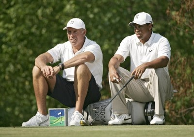 Tigers Woods and Caddie Steve Williams during the Pro-Am prior to the 2007 Wachovia Championship held at Quail Hollow Country Club in Charlotte, North Carolina on May 2, 2007. PGA TOUR - 2007 Wachovia Championship - Pro-AmPhoto by Sam Greenwood/WireImage.com