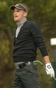 Jesper Parnevik in action during the first round of the 2006 Nissan Open, Presented by Countrywide at Riviera Country Club in Pacific Palisades, California February 16, 2006.Photo by Steve Grayson/WireImage.com