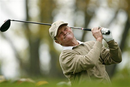 ROCHESTER, NY - MAY 23: Tom Kite hits his tee shot on the 13th hole during the second round of the 69th Senior PGA Championship at Oak Hill Country Club - East Course on May 23, 2008 in Rochester, New York. (Photo by Hunter Martin/Getty Images)
