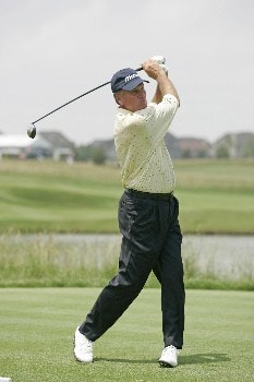 Keith Fergus hits a drive during the first round of the Champions Tour at the Bayer Advantage Classic in Overland Park, KS on June 10, 2005.Photo by G. Newman Lowrance/WireImage.com