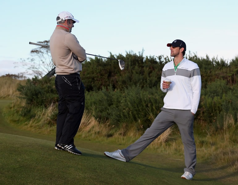 Paul McGinley and Michael Phelps