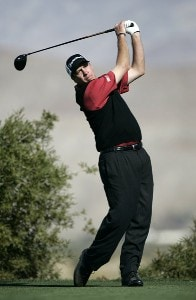 Todd Fischer in action on the 9th hole during the second round of the Bob Hope Chrysler Classic held at The Classic Club in Palm Desert, California on Thursday, January 19, 2006.Photo by Sam Greenwood/WireImage.com