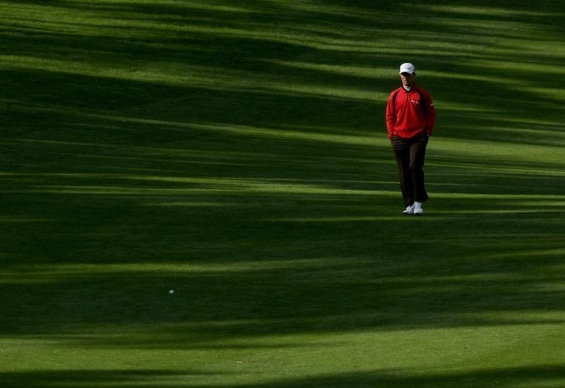 PEBBLE BEACH, CA - FEBRUARY 14:  Mike Weir of Canada walks to his ball on the 11th hole  during the third round of the the AT&T Pebble Beach National Pro-Am at Spyglass Hill Golf Course on February 14, 2009 in Pebble Beach, California.  (Photo by Stephen Dunn/Getty Images)