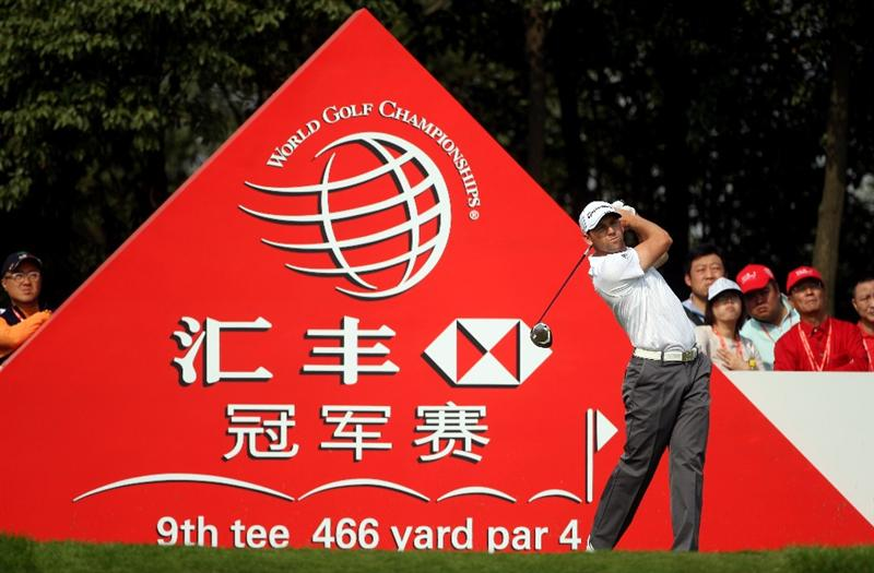 SHANGHAI, CHINA - NOVEMBER 06:  Sergio Garcia of Spain hits his tee-shot on the ninth hole during the second round of the WGC-HSBC Champions at Sheshan International Golf Club on November 6, 2009 in Shanghai, China.  (Photo by Andrew Redington/Getty Images)