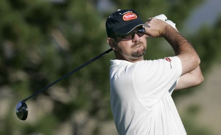 Brenden Pappas in action during the first round at the Reno-Tahoe Open,  August 18,2005, held at Montreux GC, Reno, Nevada.Photo by Stan Badz/PGA TOUR/WireImage.com