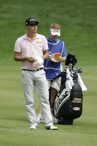 Fredrik Jacobson during the first round of the 2006 Deutsche Bank Championship held at TPC Boston in Norton, Massachusetts on September 1, 2006.Photo by Michael Cohen/WireImage.com