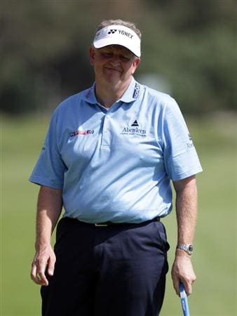 MALAGA, SPAIN - MARCH 24:  Colin Montgomerie of Scotland during the first round of the Open de Andalucia at the Parador de Malaga Golf Course on March 24, 2011 in Malaga, Spain.  (Photo by Ross Kinnaird/Getty Images)