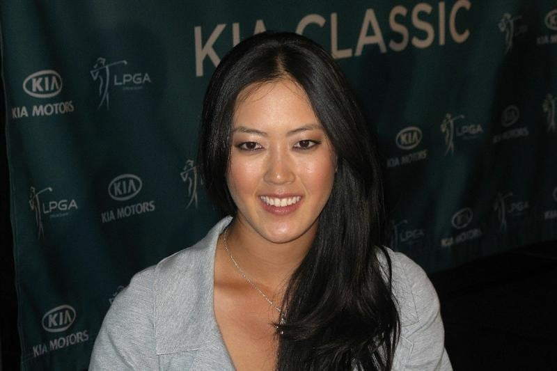 LOS ANGELES, CA - SEPTEMBER 18:  Michelle Wie speaks to the media at a press conference to announce the Kia Classic LPGA event to be held in March of 2011 on September 18, 2010 at Industry Hills Golf Club at Pacific Palms in City of Industry, California.  (Photo by Jeff Golden/Getty Images)