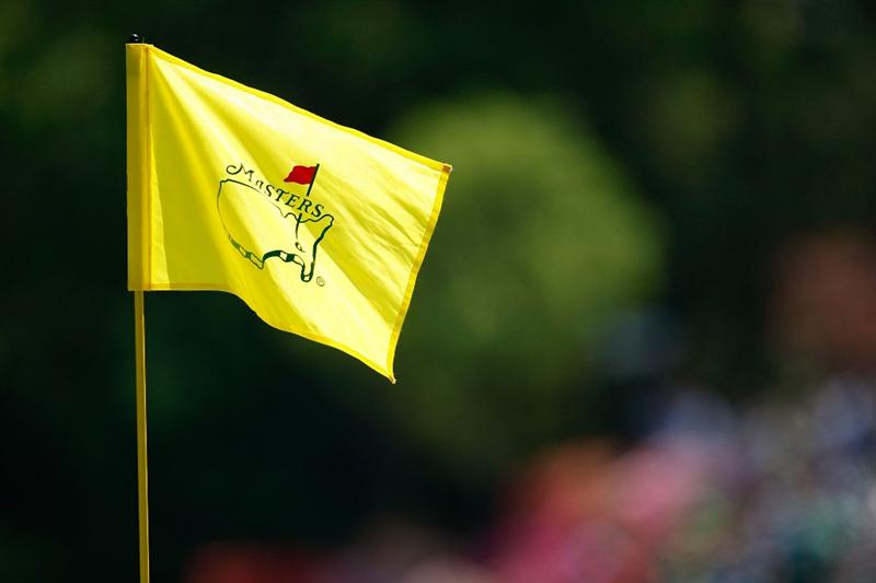 AUGUSTA, GA - APRIL 12:  A Masters flag is seen on the sixth green during the final round of the 2009 Masters Tournament at Augusta National Golf Club on April 12, 2009 in Augusta, Georgia.  (Photo by Jamie Squire/Getty Images)