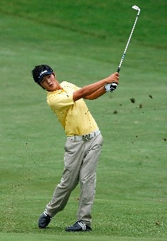 GREENSBORO, NC - AUGUST 17:  Danny Lee plays his second shot from the ninth fairway during the final round of the 2008 Wyndham Championship at Sedgefield Country Club on August 17, 2008 in Greensboro, North Carolina.  (Photo by Kevin C. Cox/Getty Images)
