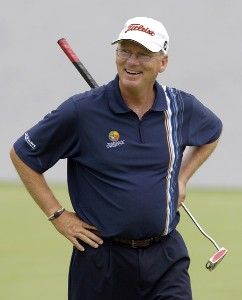 Scott Massingill reacts to a missed putt during the third and final round of the Regions Charity Classic held at Robert Trent Jones Golf Trail at Ross Bridge in Birmingham, AL, on May 7, 2006.Photo by Steve Levin/WireImage.com