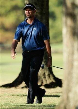 MADISON, MS - OCTOBER 01:  Cliff Kresge walks through the trees during the second round of the Viking Classic held at Annandale Golf Club on October 1, 2010 in Madison, Mississippi.  (Photo by Michael Cohen/Getty Images)