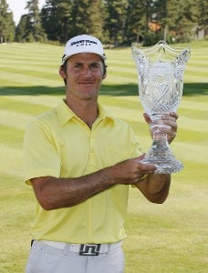 Will MacKenzie holds the winner's trophy after the fourth and final round of the Reno Tahoe Open held at Montreux Golf and Country Club in Reno, Nevada, on August 27, 2006.Photo by Stan Badz/PGA TOUR/WireImage.com