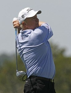 Billy Mayfair tees off the 18th hole during the first round of the 2006 Verizon Herizon Heritage Classic Thursday, April 13, 2006, at Harbour Town Golf Links in Hilton Head Island, South Carolina.Photo by Kevin C.  Cox/WireImage.com
