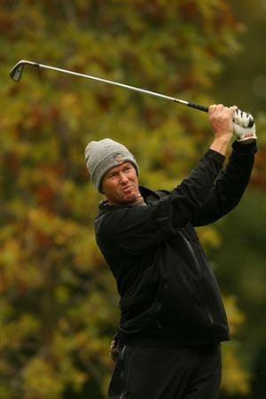 VERONA, NY - OCTOBER 02:  Tim Petrovic tees off on the on the 3rd hole during the second round of the 2009 Turning Stone Resort Championship at Atunyote Golf Club held on October 2, 2009 in Verona, New York.  (Photo by Chris Trotman/Getty Images)