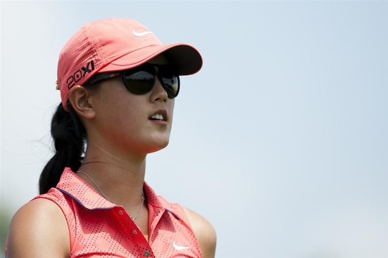 CHON BURI, THAILAND - FEBRUARY 20:  Michelle Wie of USA looks on during day four of the LPGA Thailand at Siam Country Club on February 20, 2011 in Chon Buri, Thailand.  (Photo by Victor Fraile/Getty Images)