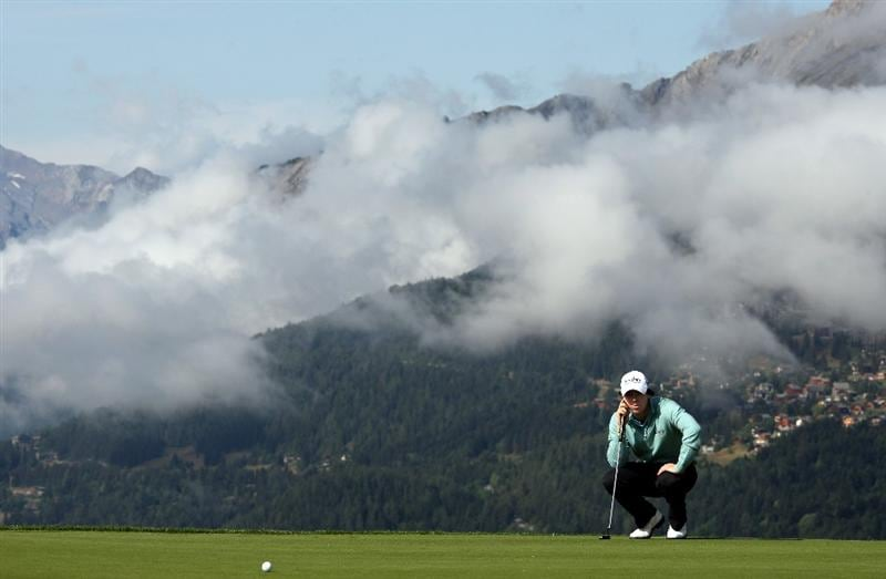 CRANS, SWITZERLAND - SEPTEMBER 02:  Rory McIlroy of Northern prepares to putt on the 7th green during the Pro Am prior to the start of The Omega European Masters at Crans-Sur-Sierre Golf Club on September 2, 2009 in Crans Montana, Switzerland.  (Photo by Andrew Redington/Getty Images)