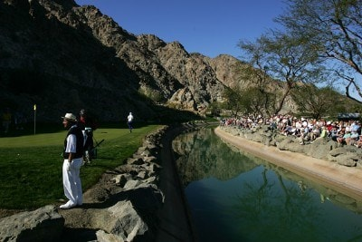 George Lopez  gets ready for his putt on the 17th hole during the third round of the 49th Bob Hope Chrysler Classic on January 18, 2008 at the PGA WEST Arnold Palmer Private Course in La Quinta, California. PGA TOUR - 2008 Bob Hope Chrysler Classic - Round ThreePhoto by Robert Laberge/Getty Images