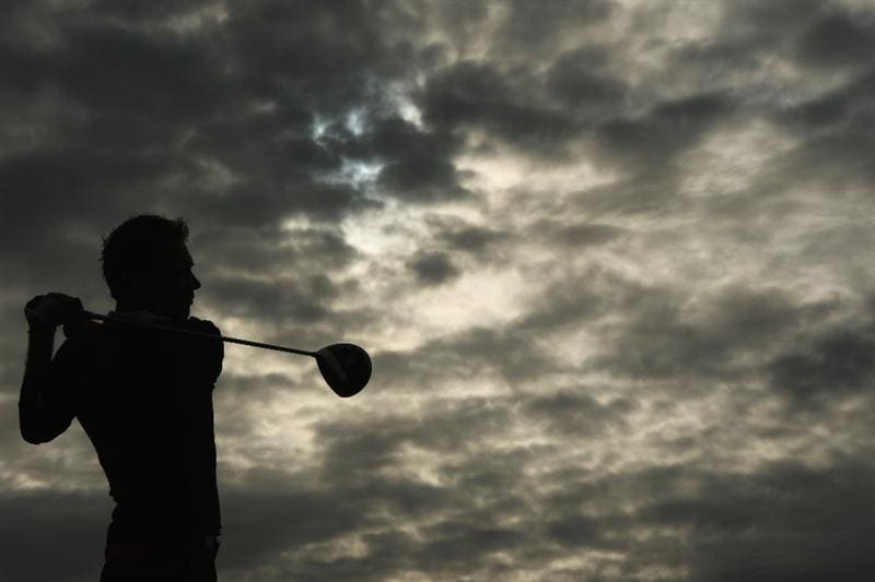 TURNBERRY, SCOTLAND - JULY 14:  Nick Dougherty of England watches a tee shot on the third hole during a practice round prior to the 138th Open Championship on July 14, 2009 on the Ailsa Course, Turnberry Golf Club, Turnberry, Scotland.  (Photo by Andrew Redington/Getty Images)