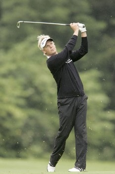Mattias Eliasson during the second round of the 2005 Smurfit European Open on the Palmer Course at the K Club in Straffan, Ireland on July 1, 2005.Photo by Pete Fontaine/WireImage.com