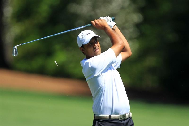 AUGUSTA, GA - APRIL 07:  Arjun Atwal of India hits his tee shot on the 12th hole during the first round of the 2011 Masters Tournament at Augusta National Golf Club on April 7, 2011 in Augusta, Georgia.  (Photo by David Cannon/Getty Images)