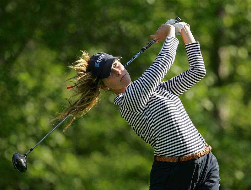 CORNING, NY - MAY 22:  Taylor Leon hits a drive during the second round of the LPGA Corning Classic at the Corning Country Club held on May 22, 2009 in Corning, New York.  (Photo by Michael Cohen/Getty Images)