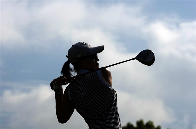 SINGAPORE - MARCH 06:  Se Ri Pak of South Korea hits a drive during the second round of HSBC Women's Champions at the Tanah Merah Country Club on March 6, 2009 in Singapore.  (Photo by Victor Fraile/Getty Images)