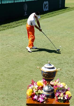 DORAL, FL - MARCH 13:  Yuta Ikeda of Japan tees off on the first tee box during round three of the 2010 WGC-CA Championship at the TPC Blue Monster at Doral on March 13, 2010 in Doral, Florida.  (Photo by Scott Halleran/Getty Images)