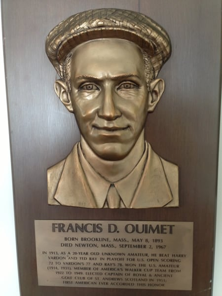 Francis Ouimet Hall of Fame plaque