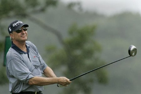 Don Pooley in action during the first round of the Greater Hickory Classic at Rock Barn on the Jones Course  in Conover, North Carolina on October 7, 2005.Photo by Michael Cohen/WireImage.com