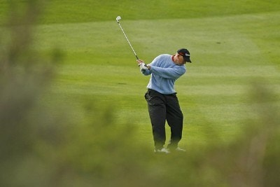 Tom Lehman during the third round of the AT&T Pebble Beach Pro-Am at Spyglass Hill on Saturday, February 10th, in Pebble Beach, California. Photo by Hunter Martin/WireImage.com