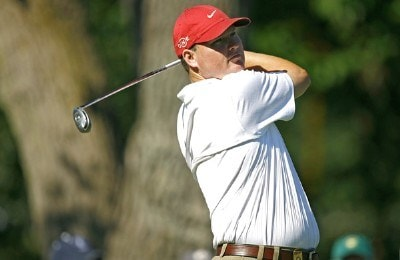 Chad Campbell during a practice for the 88th PGA Championship at Medinah Country Club in Medinah, Illinois on August 16, 2006.