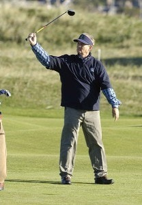 Bill Murray during the third round of the 2006 Alfred Dunhill Links Championship held on the Kingsbarns Golf Links in Kingsbarns, Scotland on October 7, 2006. European Tour - 2006 Alfred Dunhill Links Championship - Third RoundPhoto by Sandy Young/WireImage.com